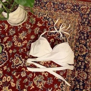 Victoria's Secret White Wrap Bikini Top
